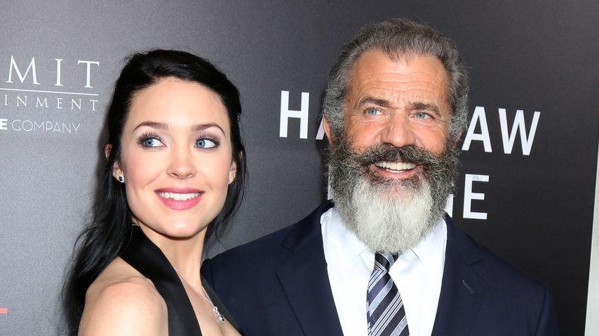 Rosalind Ross und Mel Gibson im Oktober 2016 bei einer Filmpremiere in Los Angeles.