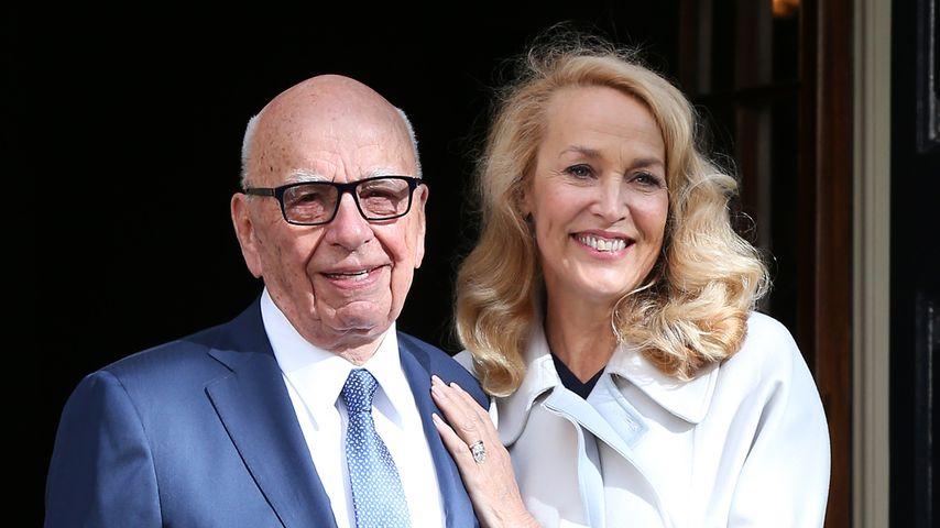 Ganz schlicht: Rupert Murdoch & Jerry Hall haben geheiratet!