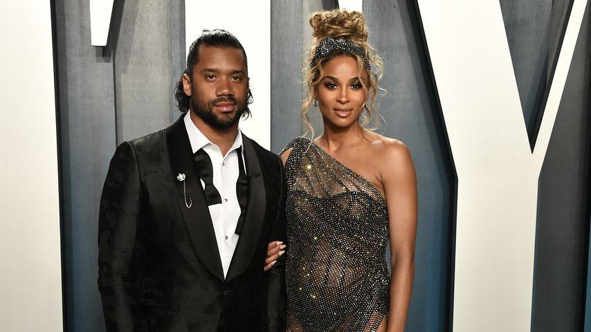 Russell Wilson und Ciara bei der Oscar-Afterparty in Beverly Hills im Februar 2020