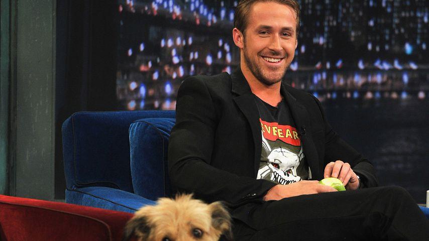 Ryan Gosling mit Hund George, 2011