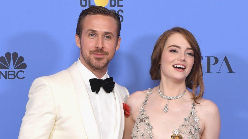 Ryan Gosling und Emma Stone bei den Golden Globe Awards 2017 in Los Angeles