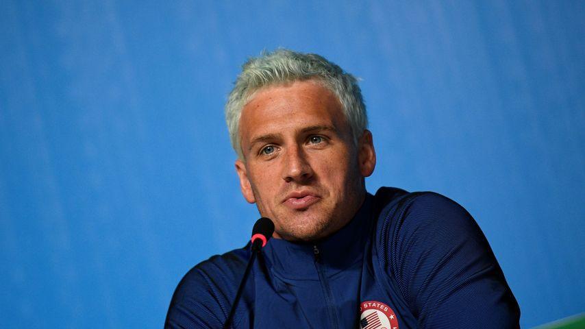 Ryan Lochte bei einer Olympia-Pressekonferenz in Rio de Janeiro