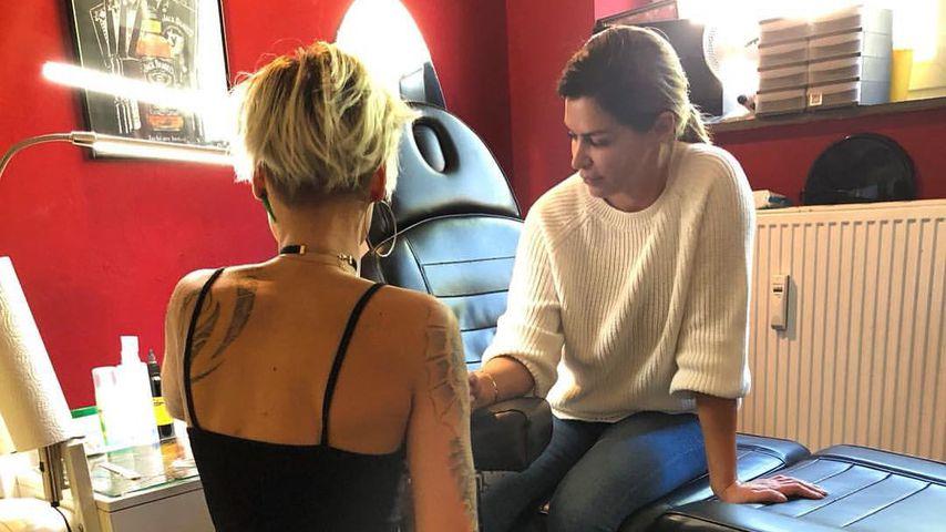 """Für """"Global Gladiators""""? Neues Tattoo für Sabia Boulahrouz"""
