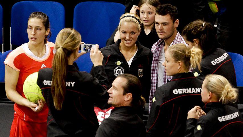 Sabine Lisicki und Martin Kaymer 2012 beim Fed-Cup in Stuttgart