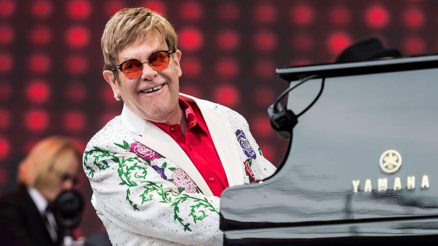Sänger Elton John bei einem Konzert in London 2017