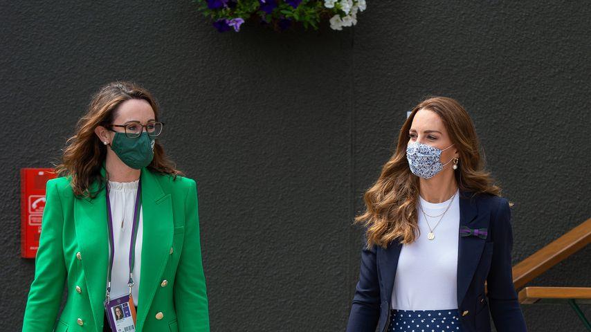 Sally Bolton und Herzogin Kate bei den Wimbledon Championships 2021