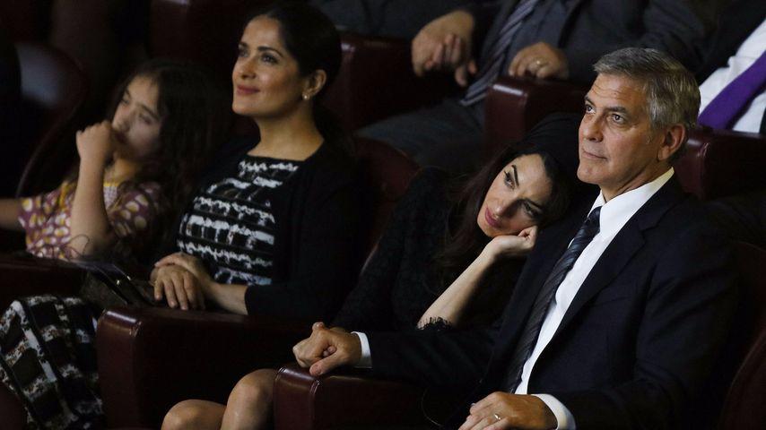 George Clooney, Salma Hayek und Amal Alamuddin