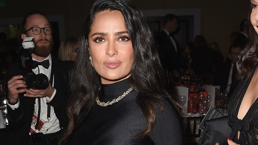 Salma Hayek bei einer Golden Globe Cocktail-Party