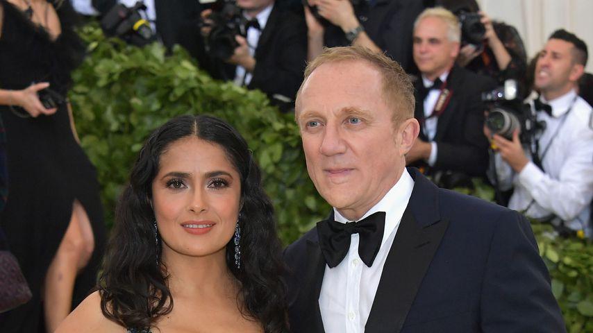 Salma Hayek und ihr Mann Francois-Henri Pinault bei der Met Gala 2018