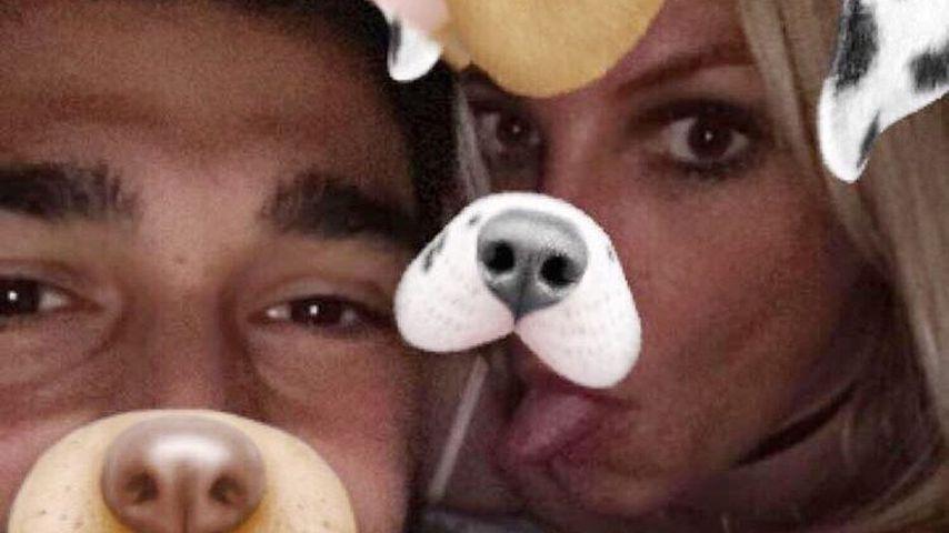 Sam Asghari und Britney Spears mit Snapchat-Filtern