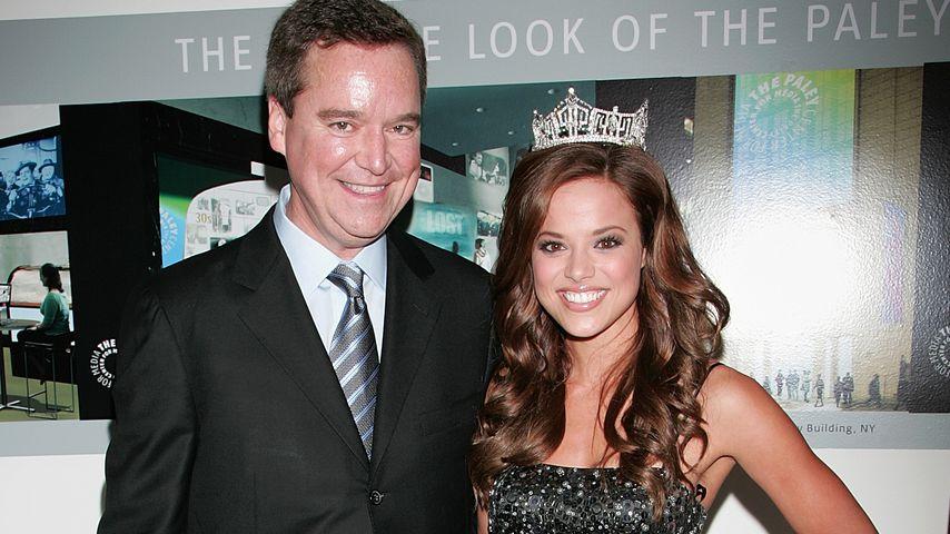 Sam Haskell und Miss America 2009 Katie Stam in Beverly Hills