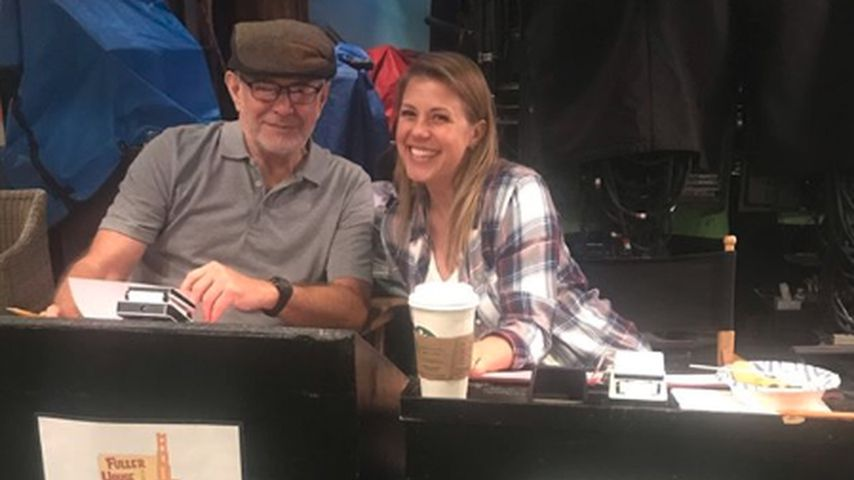 """Sam Orender und Jodie Sweetin am Set von """"Fuller House"""""""