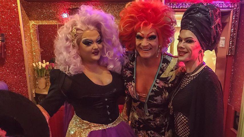 Samantha Gold, Olivia Jones und Veuve Noire in Olivias Show Club in Hamburg