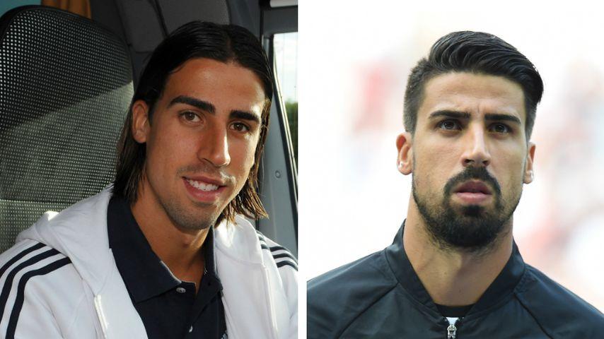 Collage: Sami Khedira 2009 (links) und 2018 (rechts)