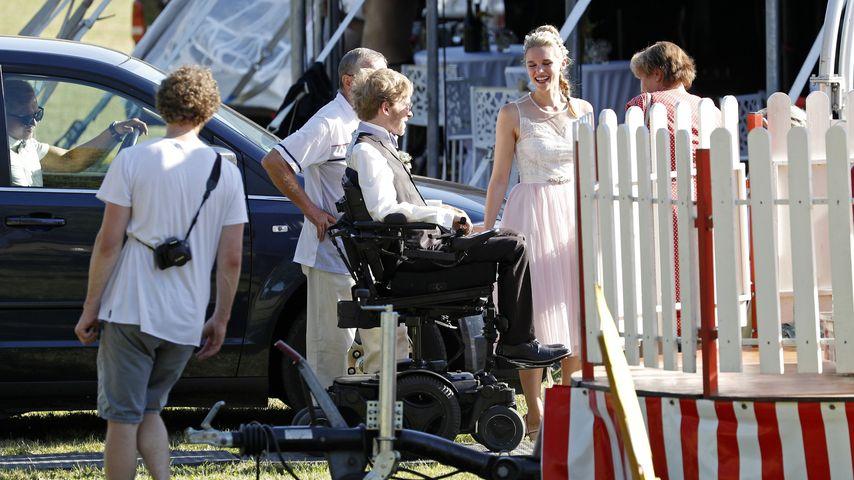 Heli statt Kutsche: So cool war Samuel Kochs Heimlich-Heirat