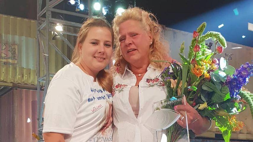 """Sarafina und Sivlia Wollny beim Finale von """"Promi Big Brother"""""""