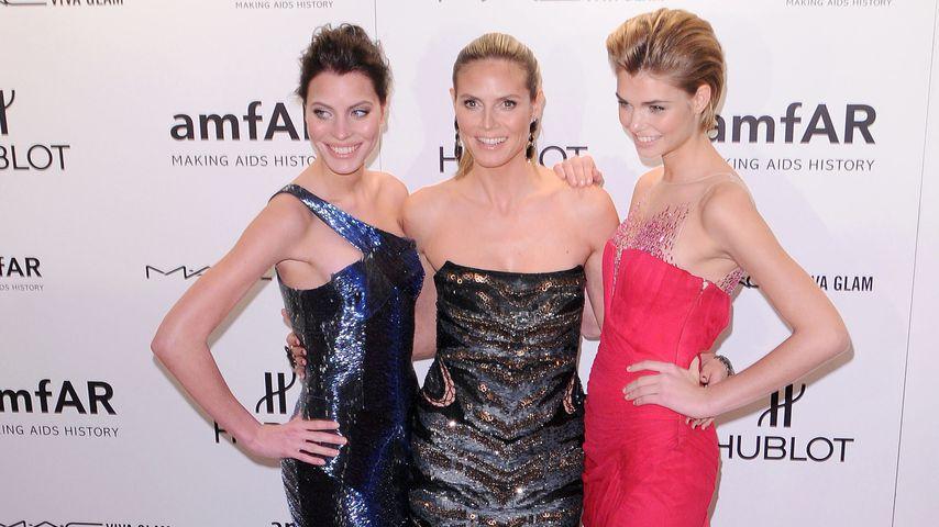 Sarah-Anessa Hitzschke, Heidi Klum und Luisa Hartema bei der AmfAR-Gala 2012
