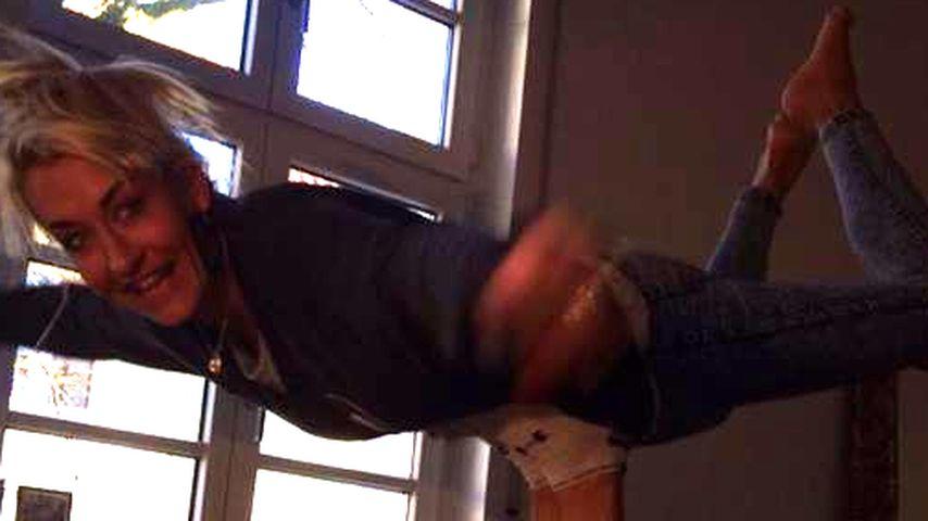 Höhenflug: So kindlich freut sich Sarah Connor