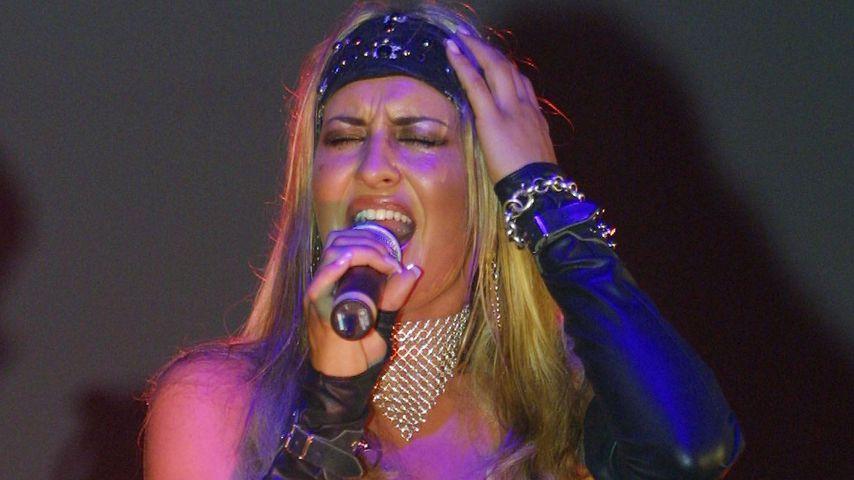 Sarah Connor bei einem Auftritt im Oktober 2001