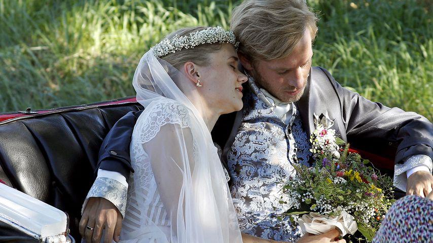 Sarah Elena Timpe und Samuel Koch bei ihrer Hochzeit