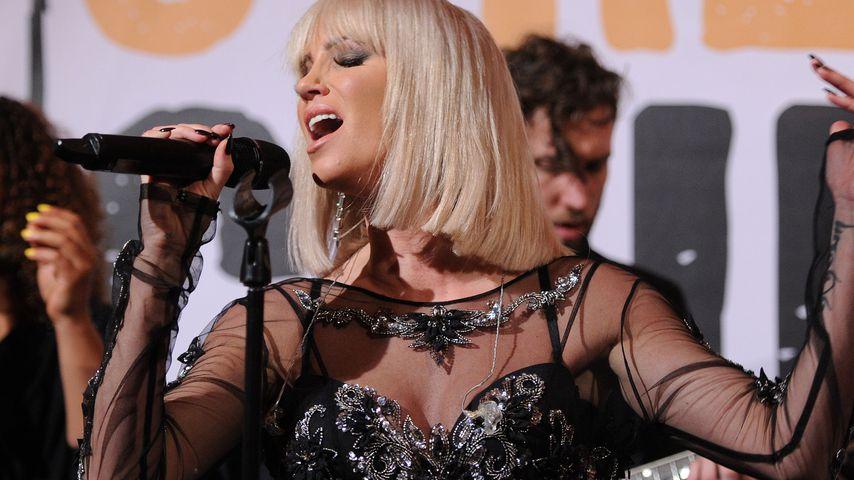 Sarah Harding bei einem Konzert 2014