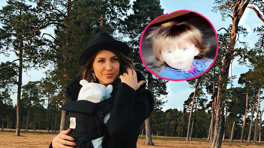 Süße Kinder-Clips: Hier ist Sarah Harrison knapp 2 Jahre alt