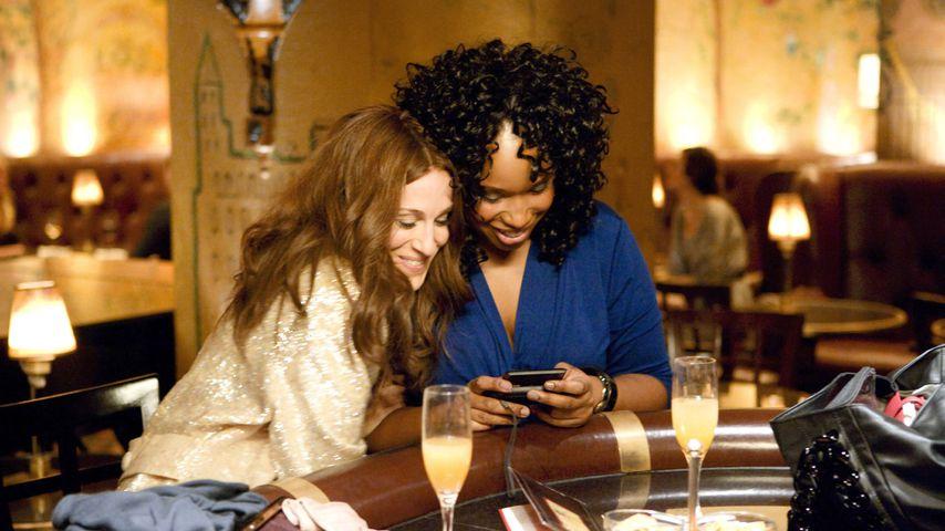 """Sarah Jessica Parker und Jennifer Hudson als Carrie Bradshaw und Louise bei """"Sex and the City"""""""