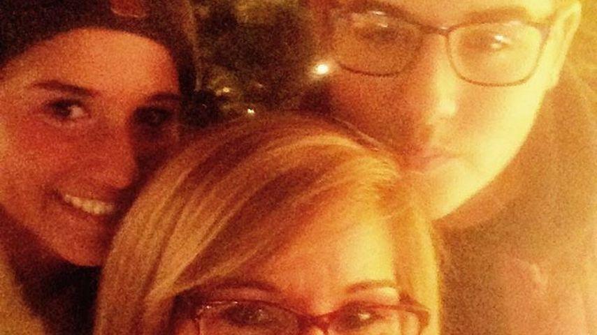 Sarah Lombardi mit ihrer Mutter Sonja und ihrem Bruder Gianluca