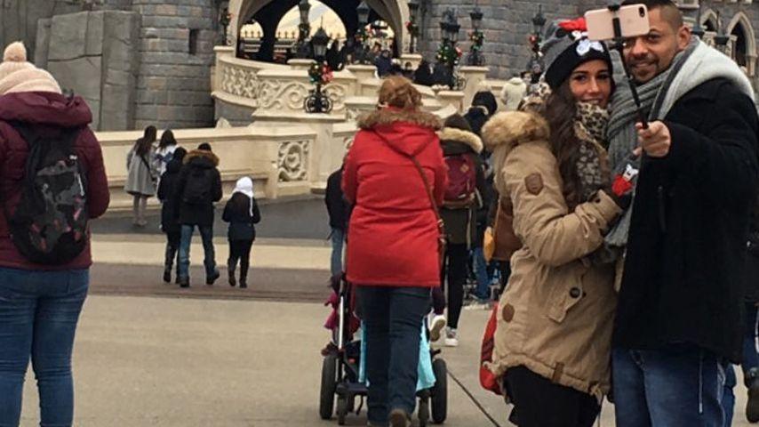 Sarah Lombardi und Michal T. im Disneyland