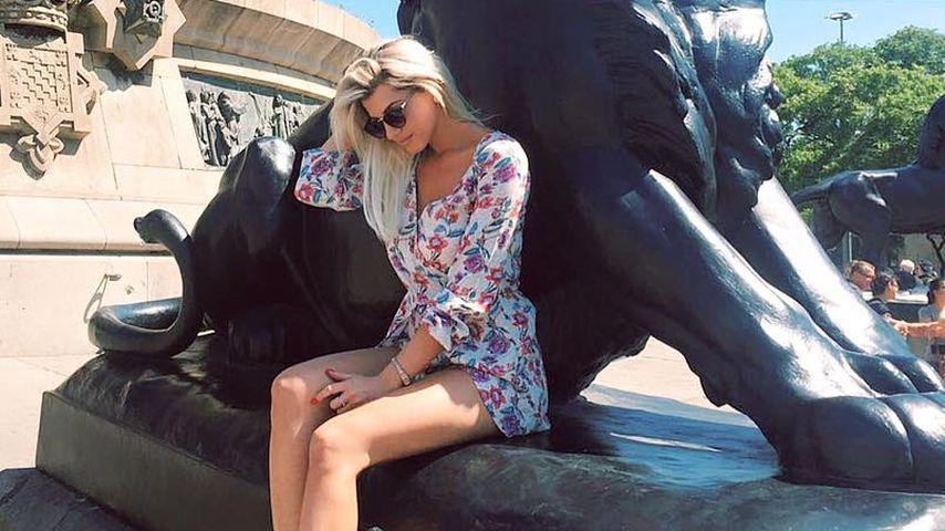 Sarah Nowak im Urlaub in Barcelona