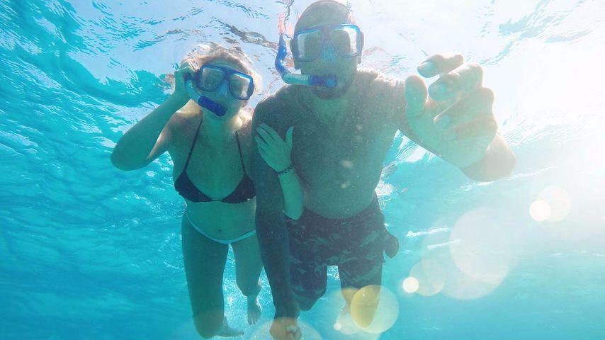 Unterwasser-Schock: Wo ist Sarah Nowaks Babybauch hin?