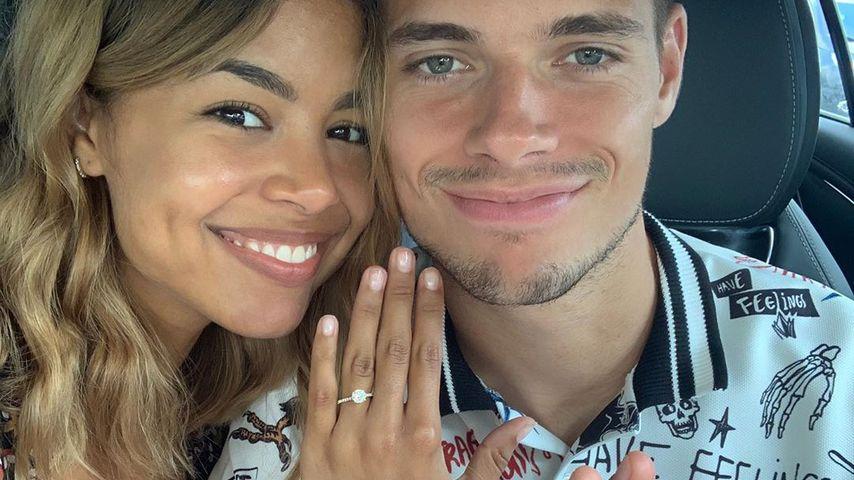Sarah Richmond und Julian Weigl im August 2019