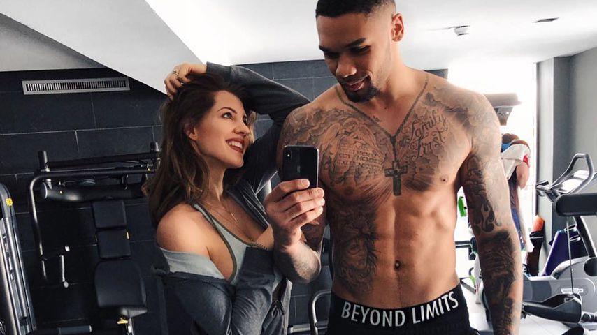 Sarah und Dominic Harrison im Fitness-Studio