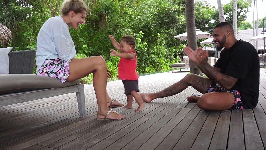 Sarah und Dominic Harrison mit ihrer Tochter Kyla