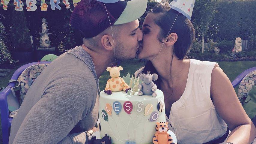 Sarah und Pietro Lombardi auf Alessios 1. Geburtstag