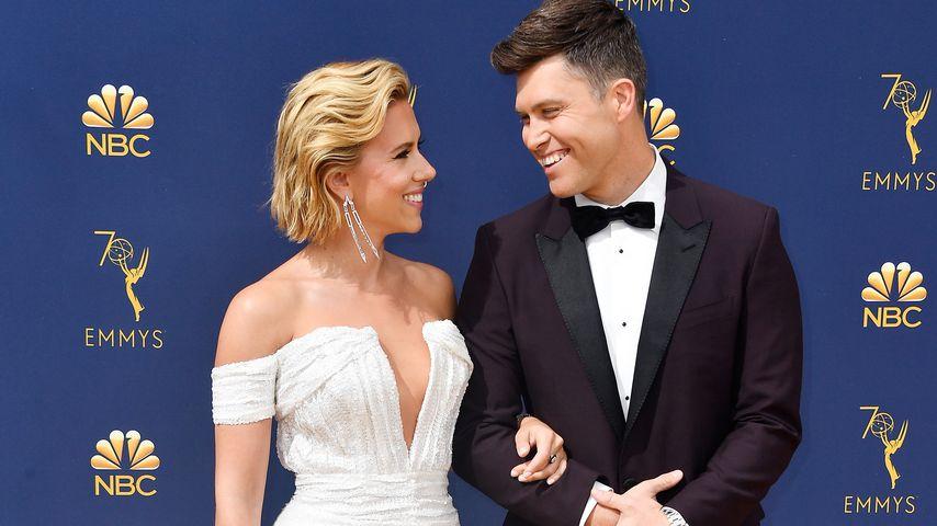 Scarlett Johansson und Colin Jost bei den Emmy Awards in Los Angeles