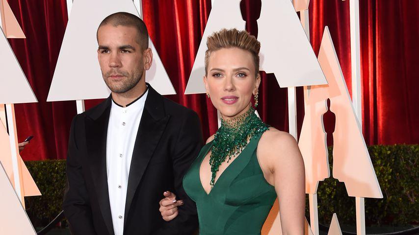 Scarlett Johansson und Romain Dauriac der Oscar-Verleihung 2015