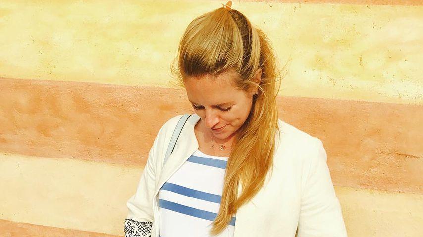 Schauspielerin Anina Haghani im siebten Monat schwanger