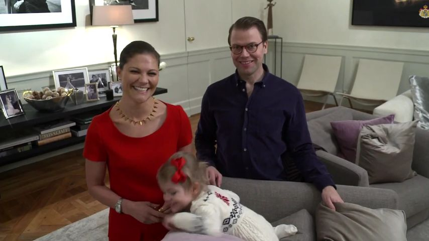 Prinzessin Estelle von Schweden, Prinzessin Victoria von Schweden und Prinz Daniel von Schweden