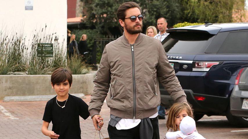 Scott Disick mit seinen Kindern Mason und Penelope