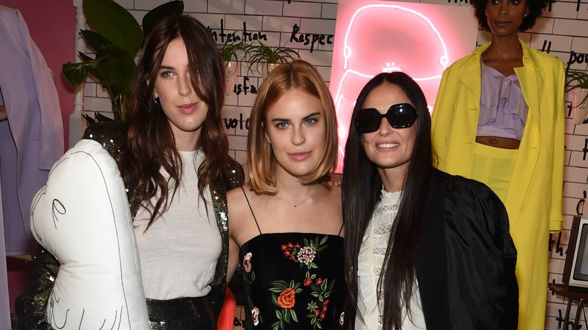 Scout Willis, Tallulah Willis und Demi Moore auf der New York Fashion Week