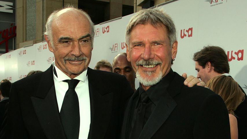 Sean Connery und Harrison Ford bei einem Event in Hollywood