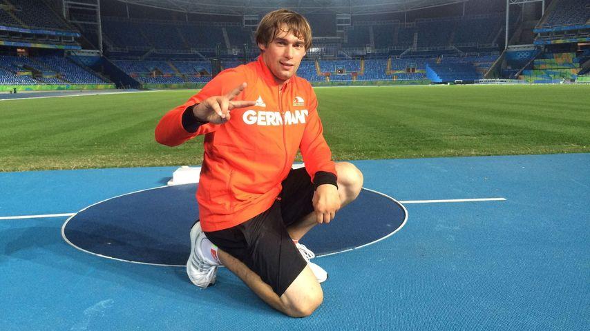 Sebastian Dietz im Stadion in Rio de Janeiro