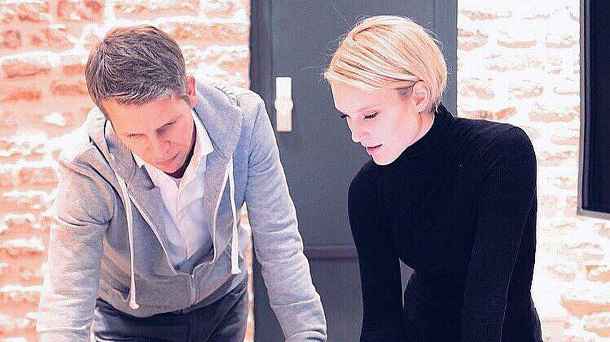 Kim Hnizdo mit ihrem Business-Partner Sebastian Schmidt