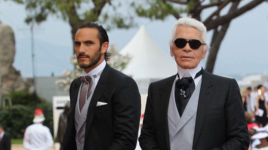 Sébastien Jondeau und Karl Lagerfeld im Juli 2011