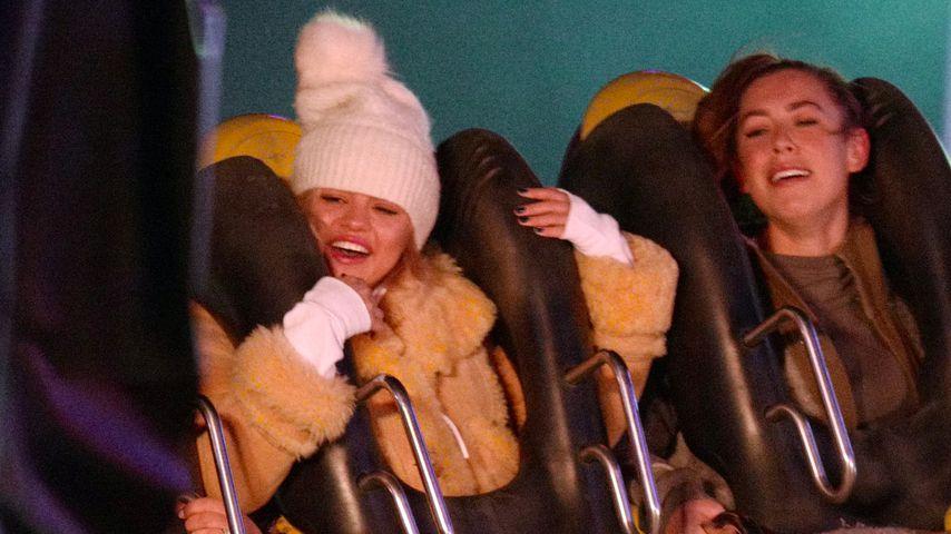Selenas Karussell-Action im Winterwonderland: Wo war Justin?