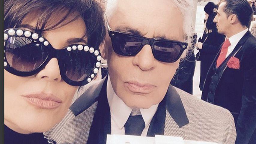 Kris Jenner und Karl Lagerfeld