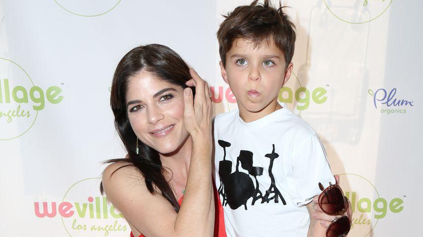 Selma Blair und ihr Sohn Arthur bei der WeVillage-Eröffnung in Los Angeles