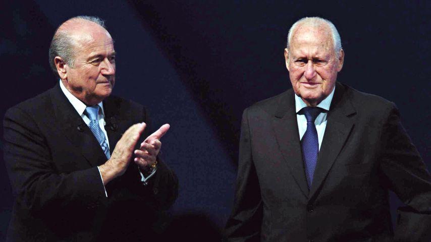 Sepp Blatter (l.) und Joao Havelange