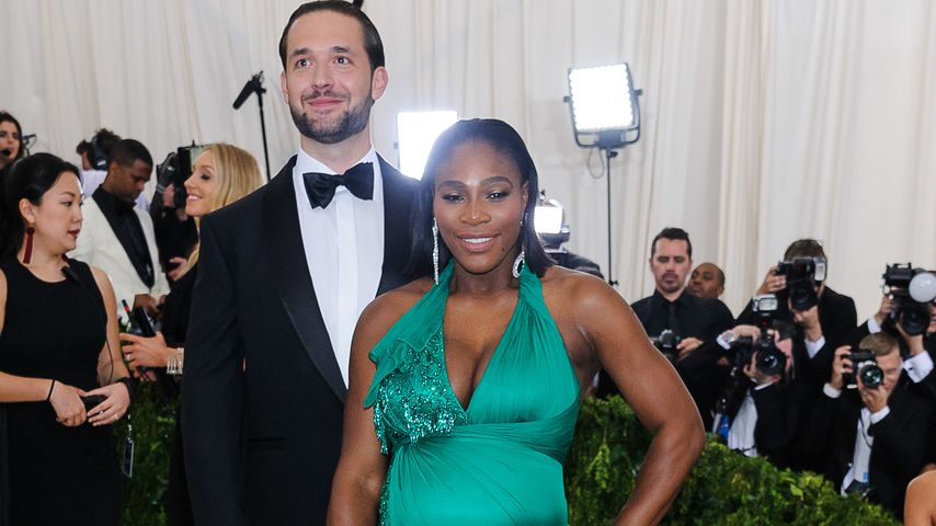 Sportlerin Serena Williams mit Alexis Ohanian